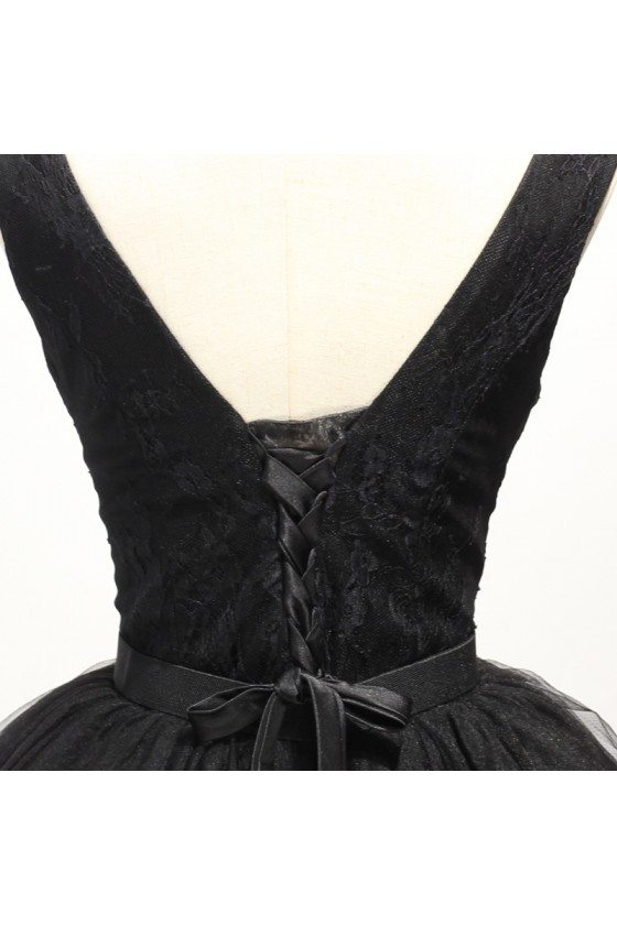 Simple Black Short Prom Gown Dress With Lace Straps - $149 #AKE18163 ...