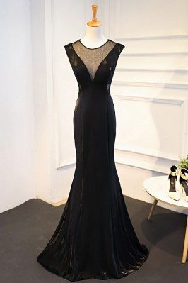 Sexy Deep V-neck Long Black...