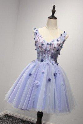 Vintage Lavender Short Prom...