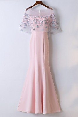Sheath Long Pink Mermaid...