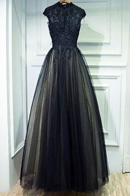Vintage Chic Long Black...