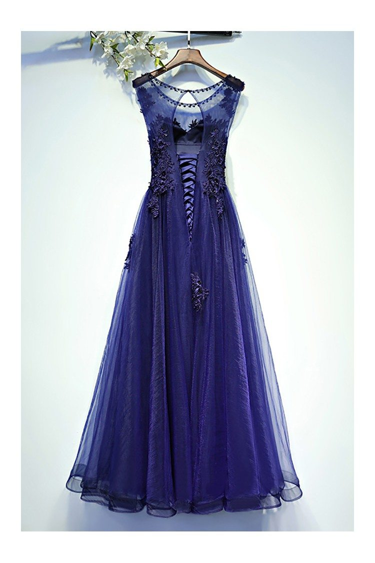Navy Blue Lace Bodycon Dress