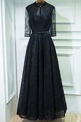 Vintage Chic Long Black...