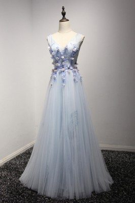Graceful Long Tulle Formal...
