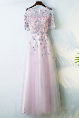 Cute Pink Long Prom Party...