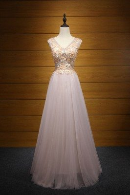 Different Pink Tulle Prom...