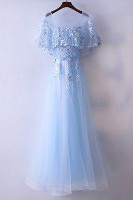 Beautiful Cap Sleeve Blue...