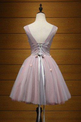 Elegant Casual Aqua Petite Party Dress for Women 2012 sha671