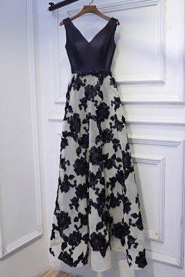 Original Glitter Silver Beading Prom Dresses with Spaghetti Straps sha637