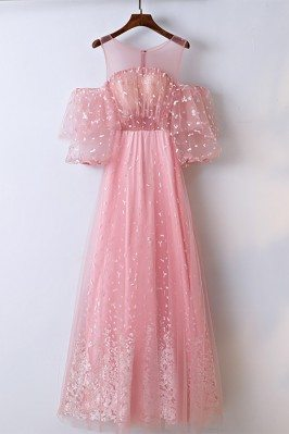 Lovely Pink Applique Lace...