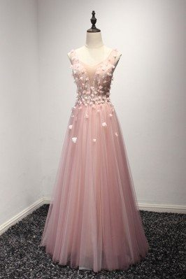 Princess Pink Tulle Formal...