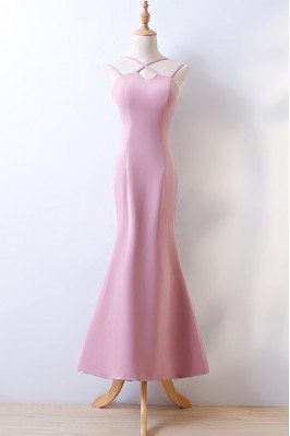 Nice Long Pink Fashion Prom Party Dress for Juniors with Train sha672