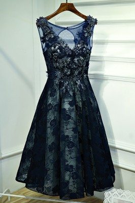 Gorgeous Navy Blue Lace...