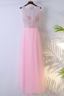 Cute Pink Long Sleeveless...