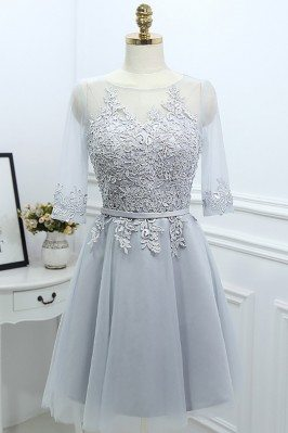 Grey Lace Short Reception...