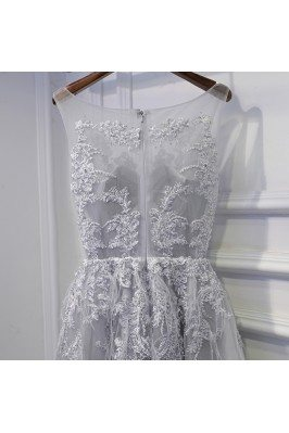 One Shoulder Casual Champagne Party Dress for Girls sha720