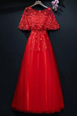 One Shoulder Yellow Chiffon Evening Gown for Women sha715