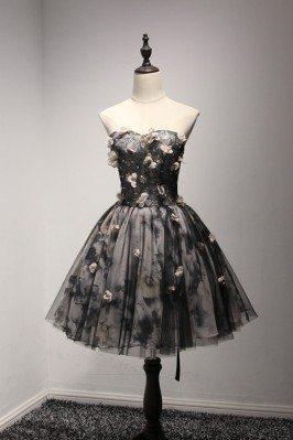 Special Black Short Prom...