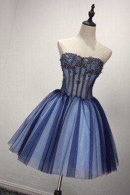 Short Sparkly Blue Formal...