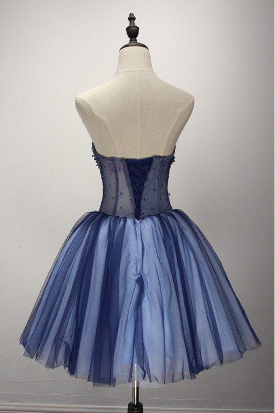 Short Sparkly Blue Formal Dress For 8th Grade Girls 149 Ake18009