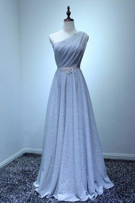 Sparkly Long Silver Formal...