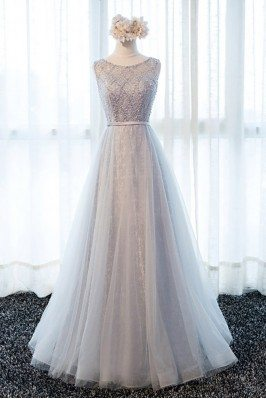 Elegant Beaded Long Formal...