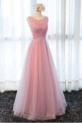 Gold Color Chiffon Long Bridesmaid Dress for Wedding Party scj163
