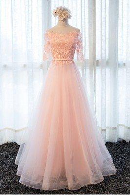 Hot Seller Elegant Lace Straps Blue Evening Dress sha775