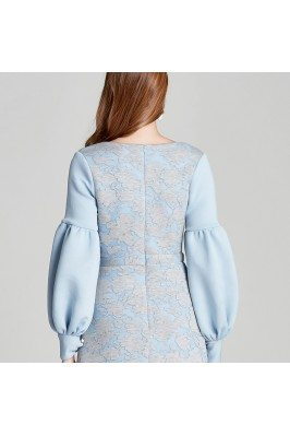 Blue Embroidery Long Wedding Guest Dresses shd128