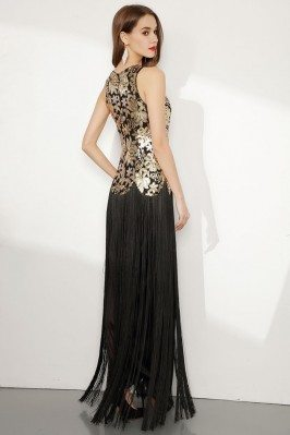 Light Grey Beaded Lace Evening Dresses with Sleeves shd273