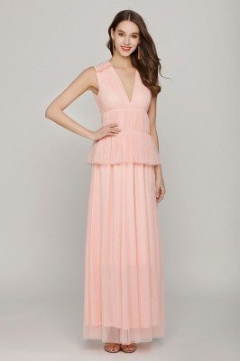 Black and Champagne Jeweled Tulle Long Dresses with Sleeves shd225