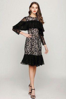 Unique Black Short Lace...