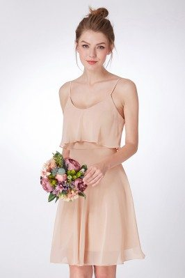 Simple Cream White Pleated One Shoulder Prom Dress shd176