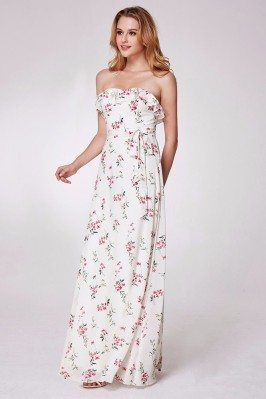 Pink One Short Sleeve Long Wedding Party Dresses scj858