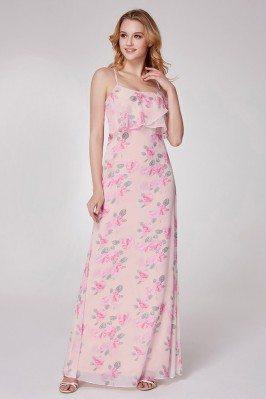 Instock Chiffon Beaded Pink Formal Dresses with Sheer Back sha928