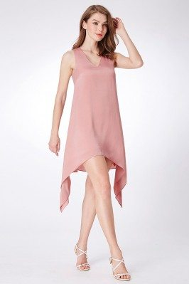 Pink Short Simple Chiffon V...
