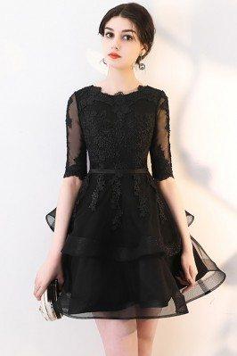 Black Lace Short Homecoming...