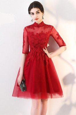 Red Lace Burgundy Red...