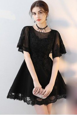 Unusual Short Sleeves Sweetheart Neckline Party Lace Dresses for Women dk218