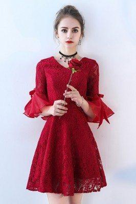 Burgundy Short Lace...