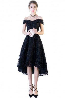 Black Lace Off Shoulder...