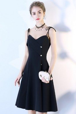 Black Short Dress Aline...