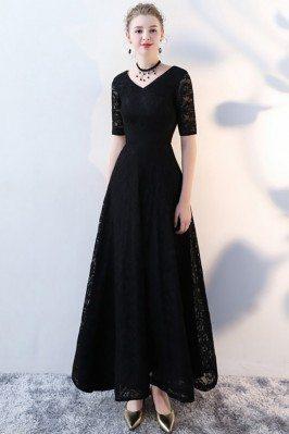Lace Long Black Formal...