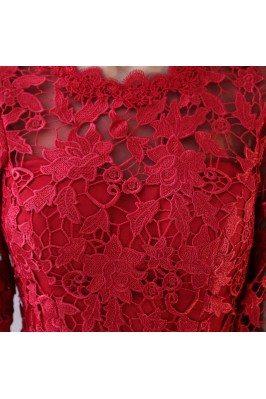 Sexy Deep Vneck Red Long Open Back Evening Dress