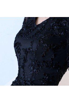 Elegant Red Chiffon Asymmetric Short Dress for Women DK256