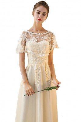 Cute Short Royal Blue Lace Cheap Bridesmaid Dresses DK264