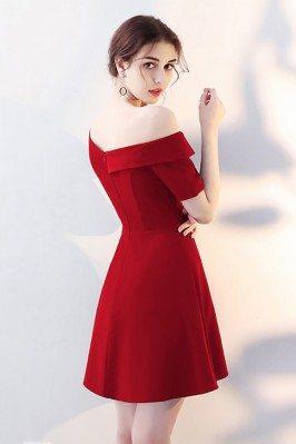 Lilac Chiffon Short Sleeved Homecoming Dress Long CK397
