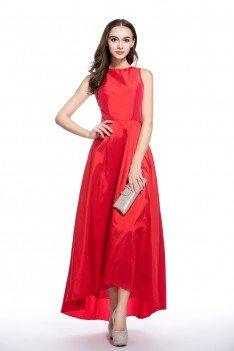 Simple Taffeta High Low Party Dress