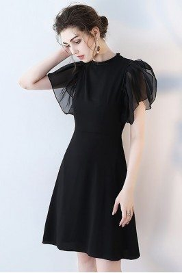 Chic Black Short Formal...