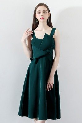 Elegant Dark Green Pleated...